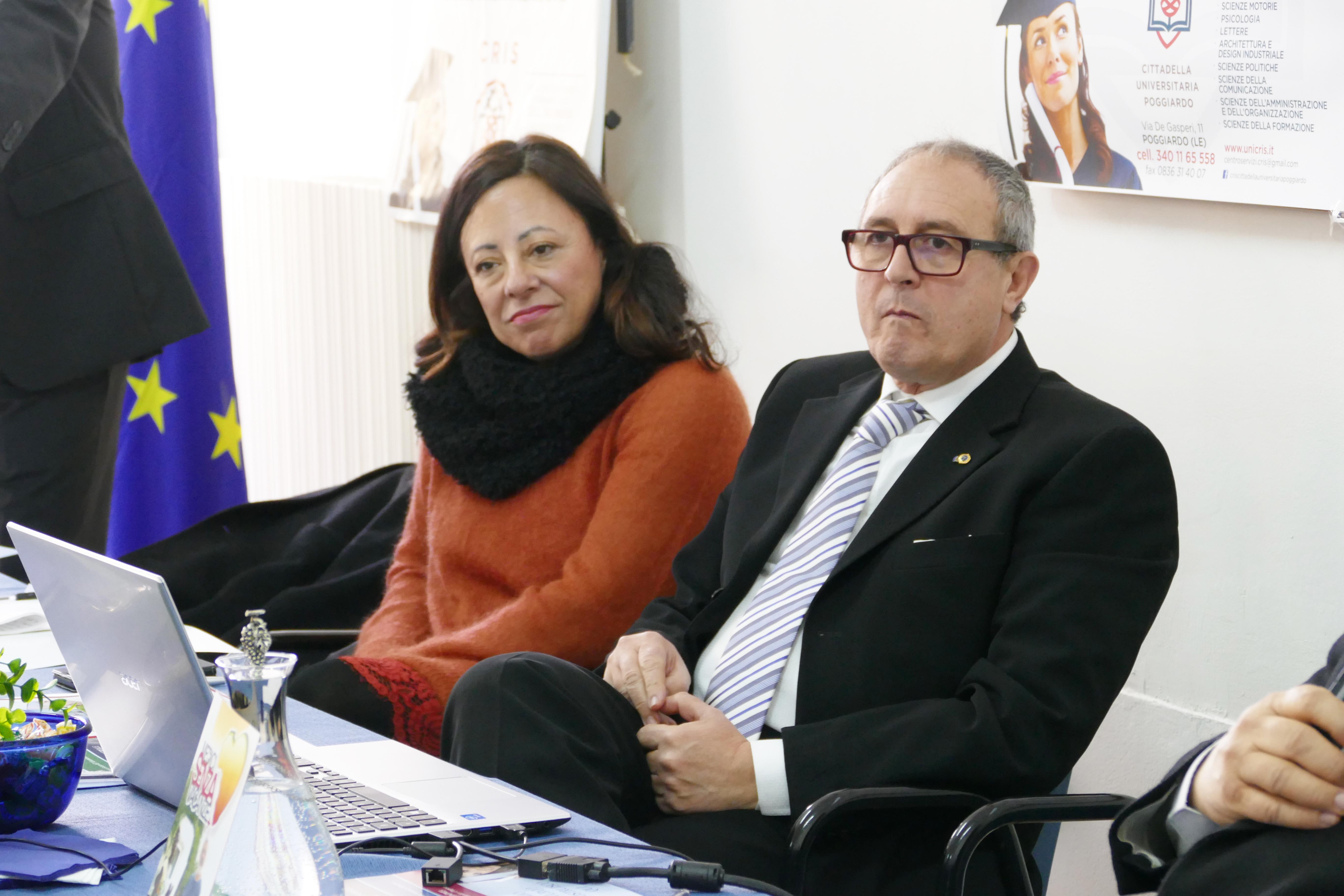 Dottoressa Antonella Elia e dottor Massimo Gravante